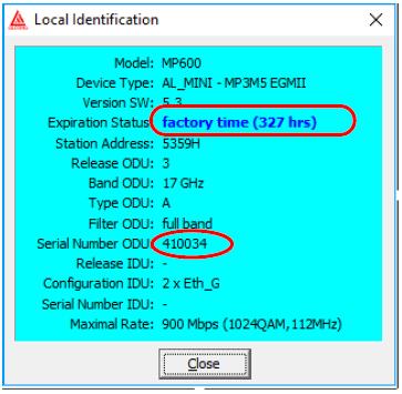Identifikace - Factory Time